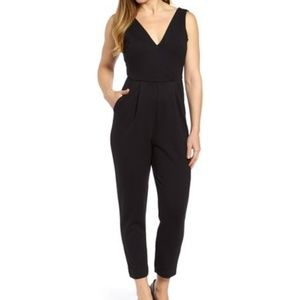 French Connection Black Marie Jersey Jumpsuit